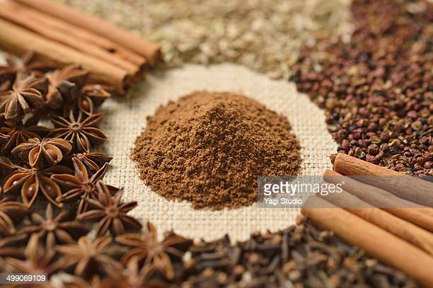 Ingredients for five-spice powder