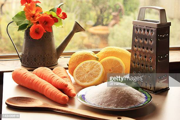 ingredients for french marmalade - jill harrison stock pictures, royalty-free photos & images