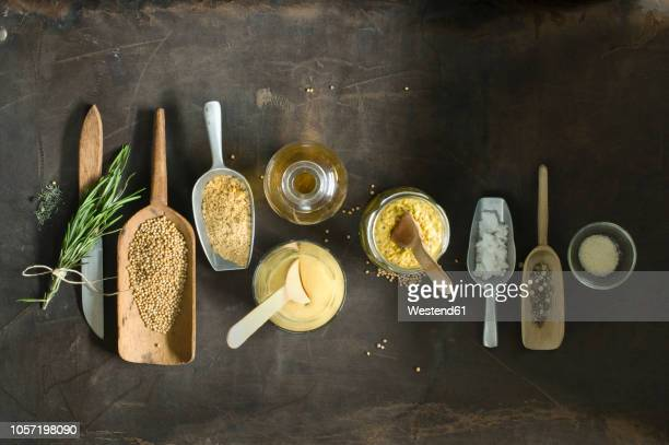 Ingredients for freshly made mustard