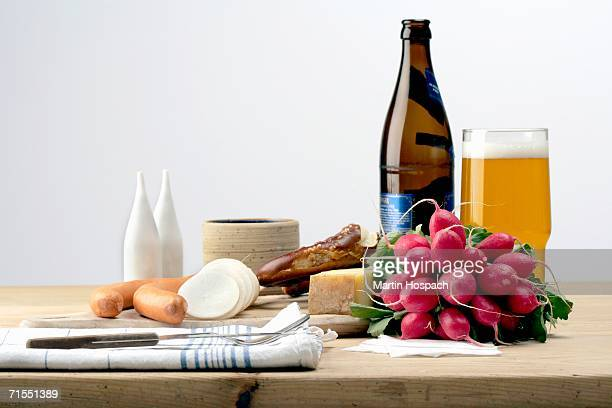 Ingredients for German meal