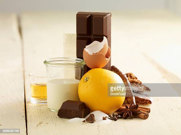 Ingredients for gingerbread mousse