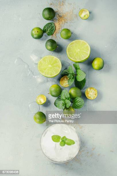 ingredients for mojito - crushed leaves stock pictures, royalty-free photos & images