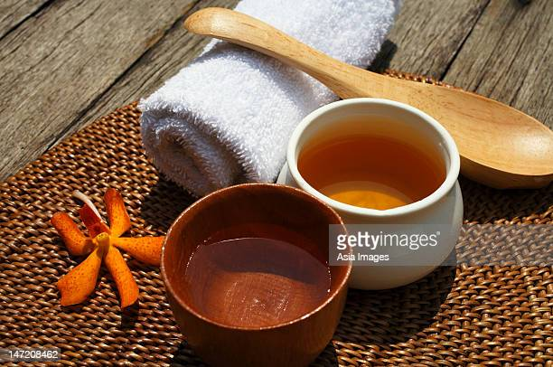 Ingredients for natural spa treatments