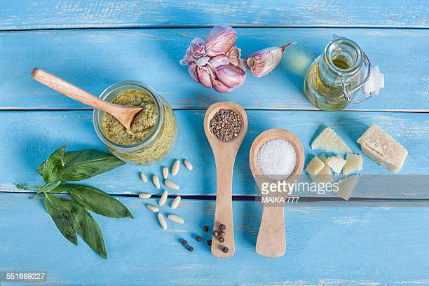 Ingredients for Pesto sauce