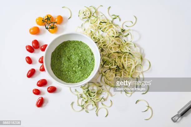 Ingredients for Tomato and Basil Pesto Tart