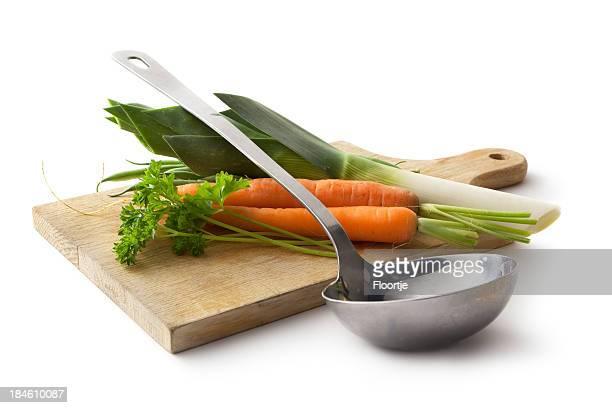 Ingredientes: Puerro, zanahoria y perejil