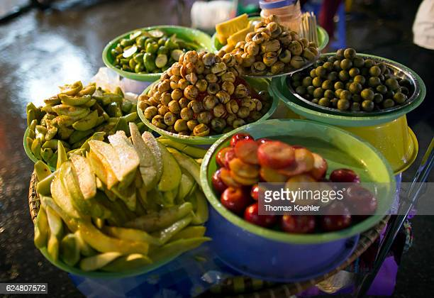 Ingredients of a traditional cookery shop in Hanoi on October 30 2016 in Hanoi Vietnam