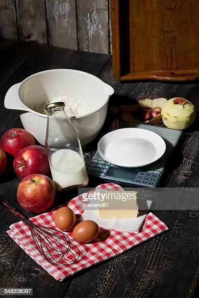 Ingredients of apple pie