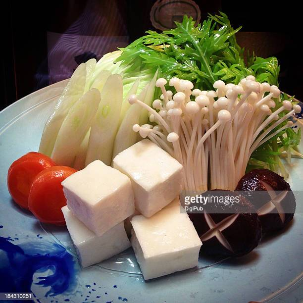 Ingredients of Shabu Shabu hotpot
