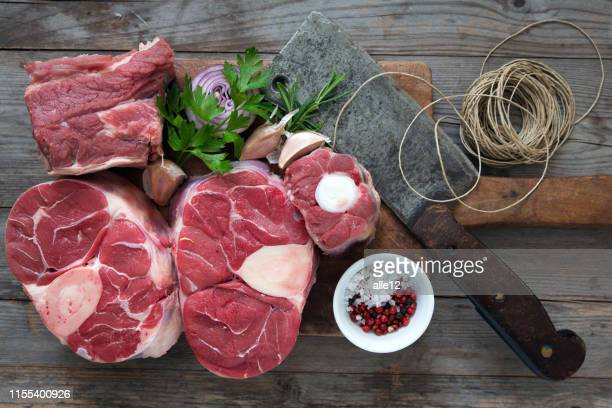 ingredients on cutting board - shank stock pictures, royalty-free photos & images