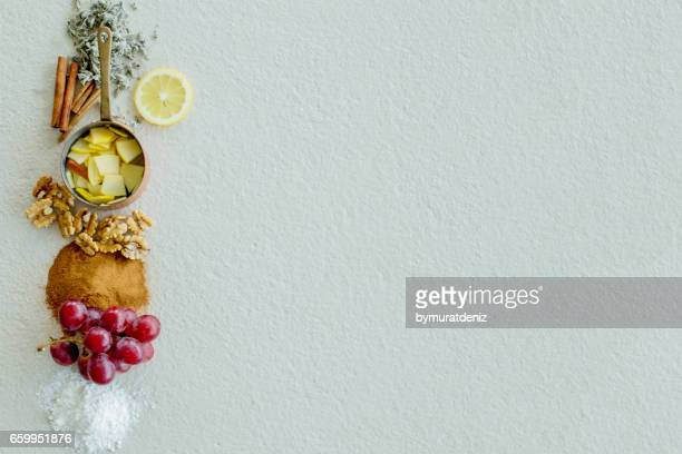 ingredients - nut food stock photos and pictures