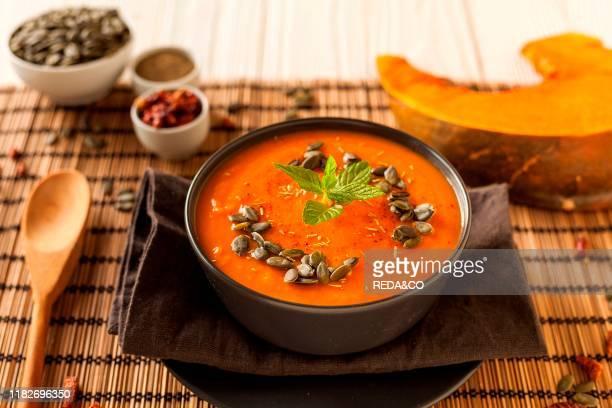 Pumpkin potatos onion olive oil pepper chili pepper and mint
