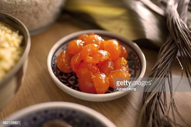 Ingredients to make Chinese rice dumplings