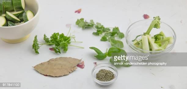 ingredients for pressurecooked vegetable broth field