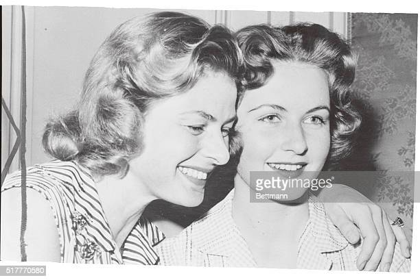 Ingrid and Image in Paris Reunion. Paris, France: Actress Ingrid Bergman and daughter, Jenny Ann Lindstrom, beam with happiness over their reunion in...