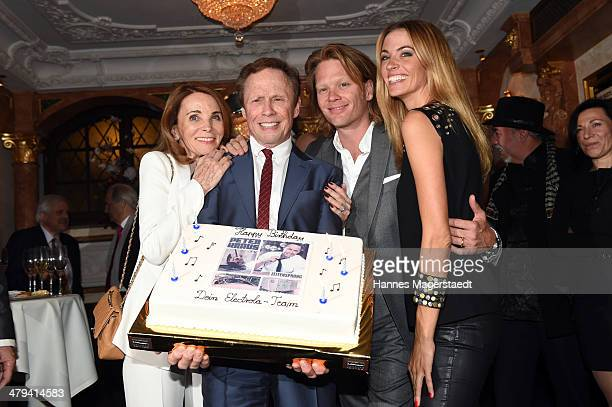 Ingrid and Peter Kraus with son Mike Kraus and his wife Constanze attend the Peter Kraus 75th Birthday party at Suedtiroler Stuben on March 18, 2014...