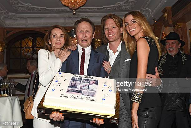 Ingrid and Peter Kraus with son Mike Kraus and his wife Constanze attend the Peter Kraus 75th Birthday party at Suedtiroler Stuben on March 18 2014...