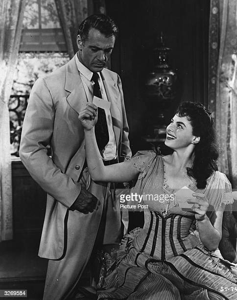 Ingrid Bergman and Gary Cooper star in the film 'Saratoga Trunk', based on the best-selling book by Edna Ferber. The film was directed by Sam Wood...