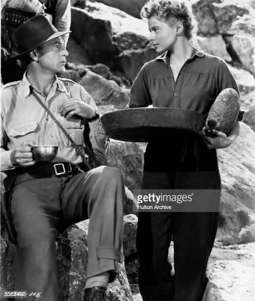 Ingrid Bergman and Gary Cooper star in the Paramount screen adaptation of Hemingway's novel, 'For Whom The Bell Tolls'.