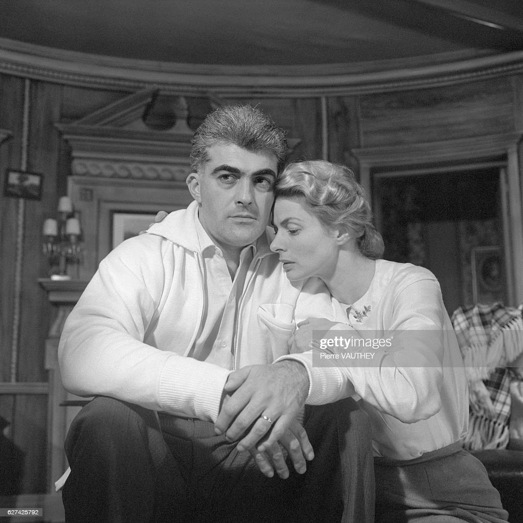 Ingrid Bergman and Yves Vincent in Tea and Sympathy : News Photo