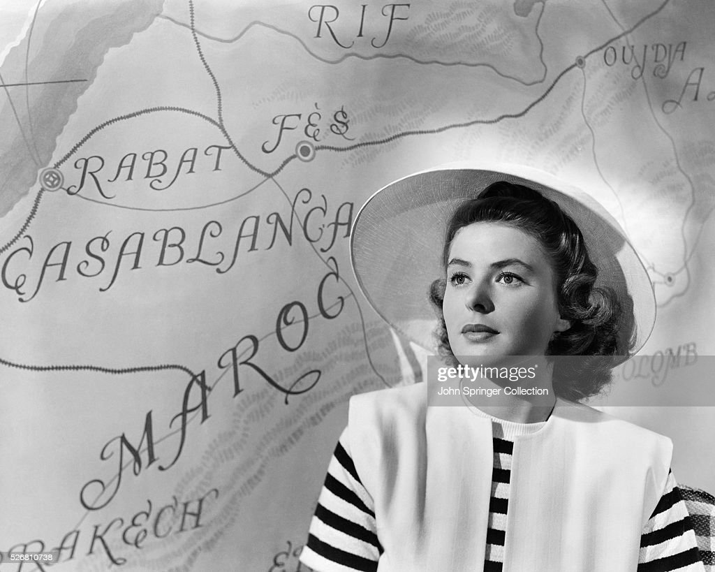 Ingrid Bergman in Casablanca : News Photo