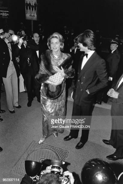Ingrid Bergman et Robertino Rossellini au festival de Cannes en Mai 1973 en France.