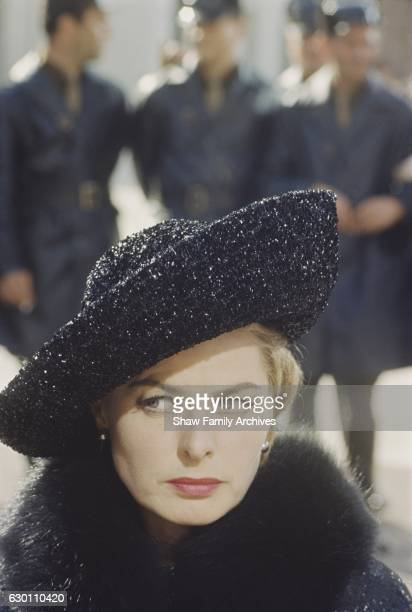 Ingrid Bergman in 1963 during the filming of The Visit in Rome Italy