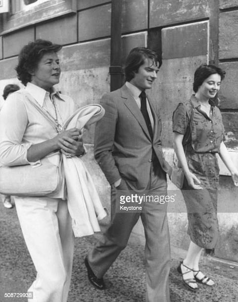 Ingrid Bergman pictured on a shopping trip with her children Isabella and Robert Rossellini Jnr, following the quiet wedding of Isabella to American...