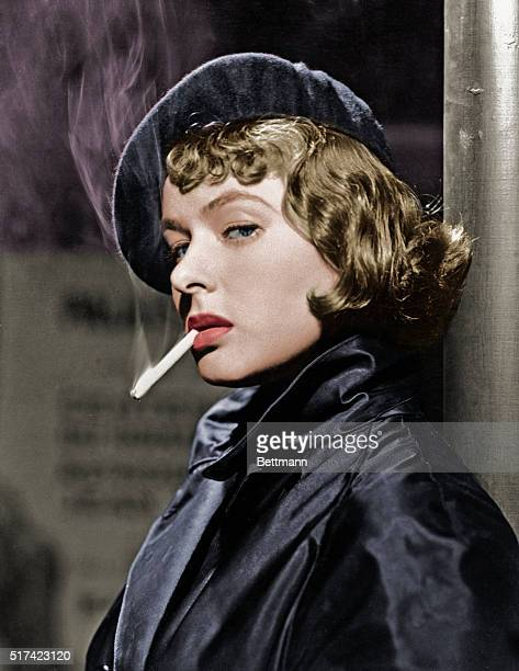 Ingrid Bergman Smoking Cigarette, 10 Jan 1947