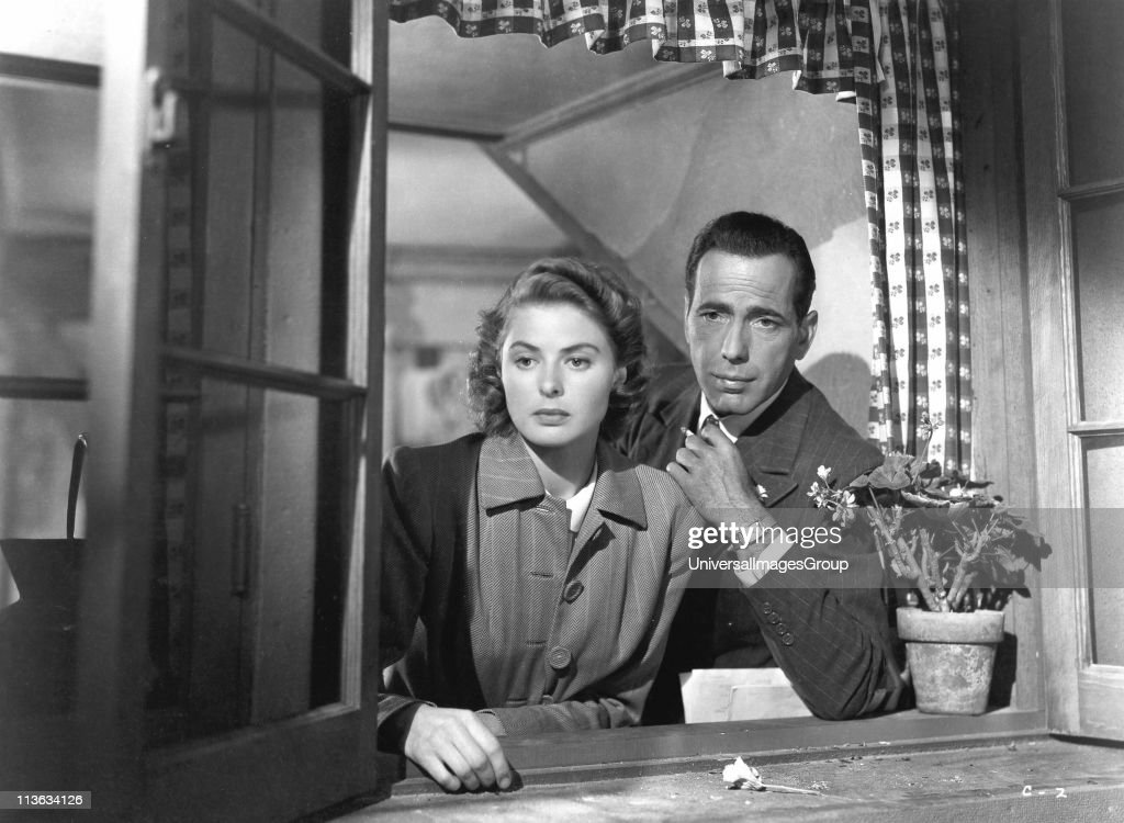 Ingrid Bergman (1917-1982) Swedish film and stage actress, with Humphrey Bogart (1899-1957). Still from Casablanca, 1942. Based on the play Everybody Goes to Rick's by Murray Burnett and Joan Alison.