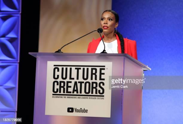 Ingrid Best, EVP, Global Head of Marketing Spirits at Combs Enterprises speaks at the Culture Creators Innovators & Leaders Awards at The Beverly...