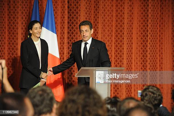 Ingrid Betancourt at Elysee Palace in Paris, France on July 04, 2008-French president Nicolas Sarkozy and first lady Carla Bruni-Sarkozy host a...