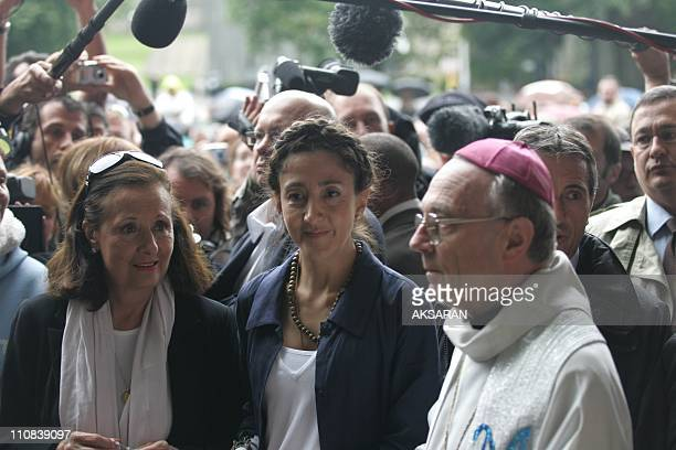 Ingrid Betancourt Visits The Massabielle Caves In Lourdes France On July 12 2008 Ingrid Betancourt arrives at Lourdes Holy Grotto with Yolanda...