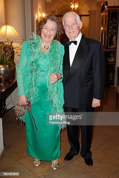 Ingrid Biedenkopf and Kurt Biedenkopf attend the 'Semper Opera Ball 2013' on February 1 2013 in Dresden Germany