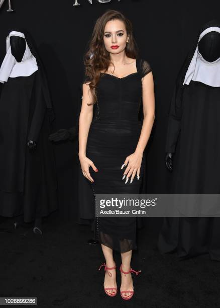 Ingrid Bisu attends the premiere of Warner Bros Pictures' 'The Nun' on September 4 2018 in Hollywood California