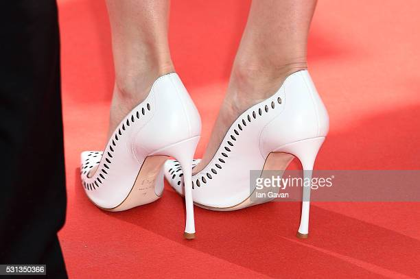 Ingrid Bisu shoe detail attends the Toni Erdmann premiere during the 69th Annual Cannes Film Festival at the Palais des Festivals on May 14 2016 in...