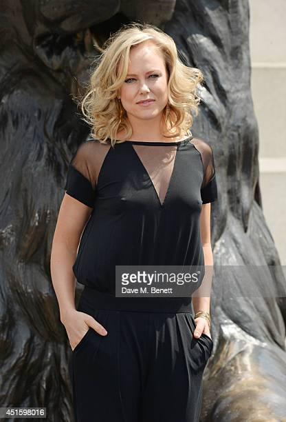 """Ingrid Bolso Berdal attends a photocall for """"Hercules"""" at Nelson's Column in Trafalgar Square on July 2, 2014 in London, England."""
