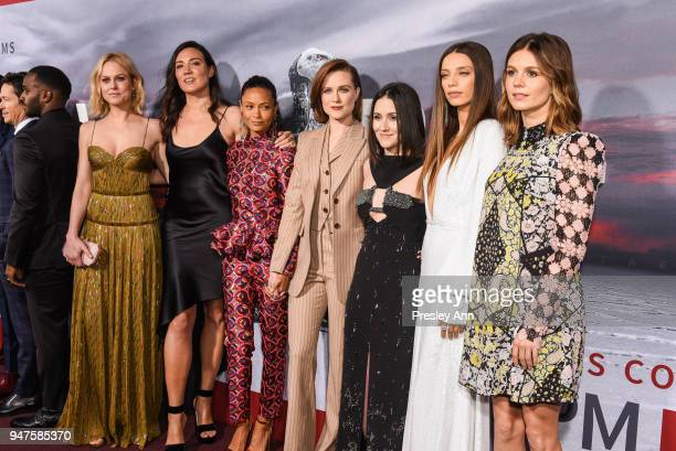 Ingrid Bolso Berdal Lisa Joy Thandie Newton Evan Rachel Wood Shannon Woodward Angela Sarafyan Katja Herbers attend Westworld Season 2 Los Angeles...