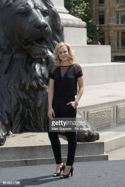 Ingrid Bolso Berdal who plays Atlanta during a photo call for Paramount Pictures' new film Hercules in Trafalgar Square London
