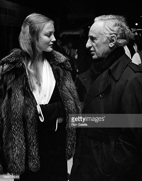 Ingrid Boulting and Elia Kazan attend the premiere party for The Last Tycoon on November 15 1976 at Tavern on the Green in New York City