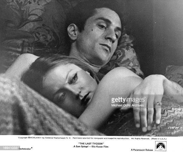 Ingrid Boulting and Robert De Niro in bed together in a scene from the film 'The Last Tycoon' 1976