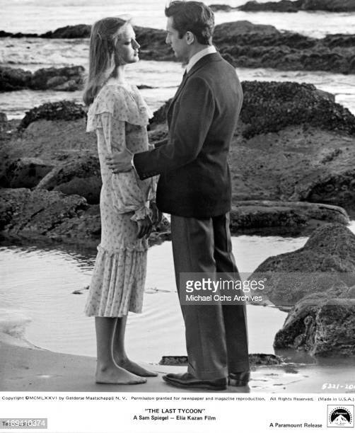 Ingrid Boulting and Robert De Niro standing together at shore in a scene from the film 'The Last Tycoon' 1976