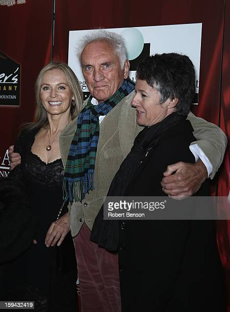 Ingrid Boulting Terence Stamp and Helen Du Toit attend the screening of the film Unfinished Song during the Closing Night Screening at the 24th...