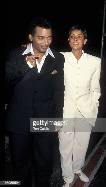 Ingrid Casares and Jon Secada attending 'Sony Corporation PreGrammy Awards Party' on March 1 1994 at the Metropolitan Museum of Art in New York City...