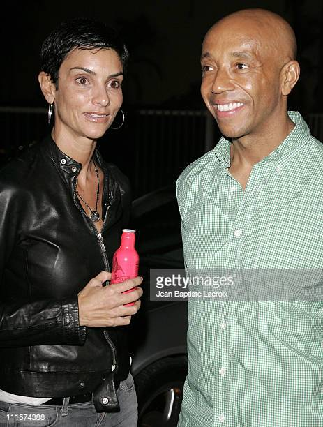 Ingrid Casares and Russell Simmons during Art Basel Miami Beach 2006 Sightings on South Beach at South Beach in Miami Beach Florida United States
