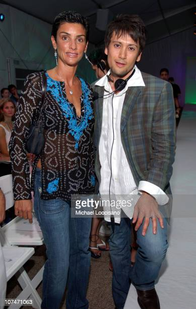 Ingrid Casares and Shiro Gutzie during Sunglass Hut Swim Shows Miami Presented by LYCRA Shay Todd Front Row and Backstage at Raleigh Hotel in Miami...