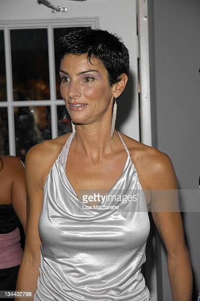 Ingrid Casares during Olympus Fashion Week Spring 2006 Seen Around Tent Day 7 at Bryant Park in New York City New York United States