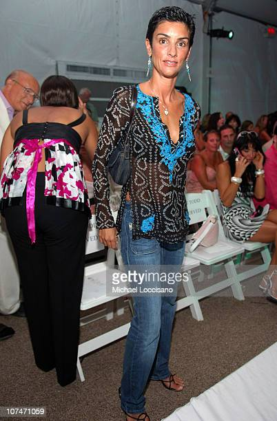 Ingrid Casares during Sunglass Hut Swim Shows Miami Presented by LYCRA Shay Todd Front Row and Backstage at Raleigh Hotel in Miami Beach Florida...