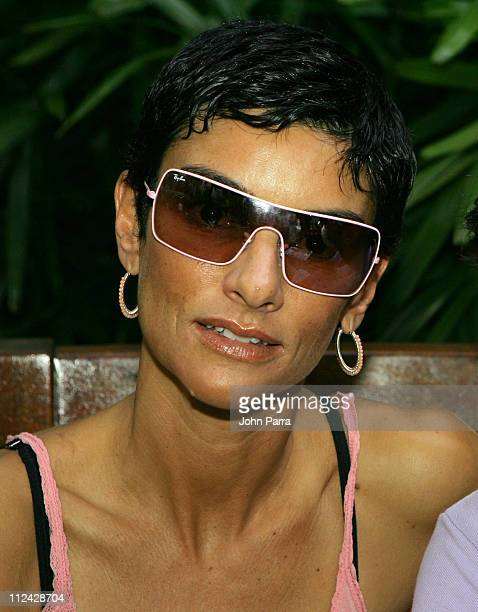 Ingrid Casares during Sunglass Hut Swim Shows Miami Presented by LYCRA Carmen Marc Valvo Front Row and Backstage at Raleigh Hotel in Miami Beach...
