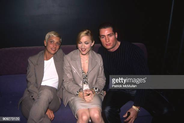 Ingrid Casares Madonna and Chris Paciello at an event on November 21 1996